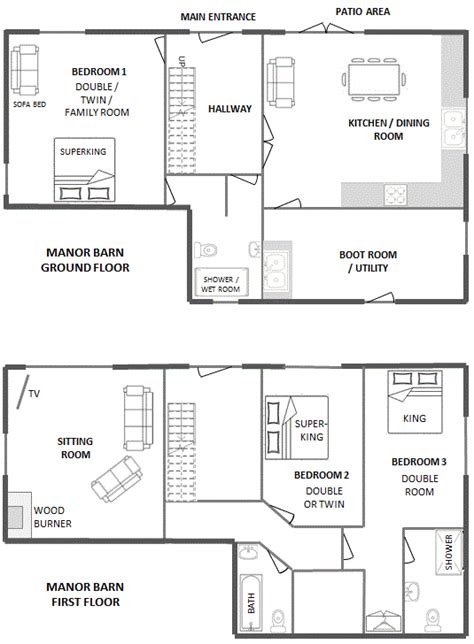 barn manor floor plan self catering barns blackdown farm