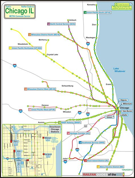 chicago metra map chicago map metra