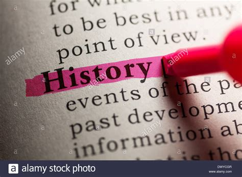 historic meaning fake dictionary definition of the word history stock