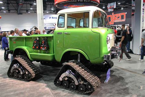 jeep fc 170 live from sema 1958 jeep fc 170 on tracks is a perfect