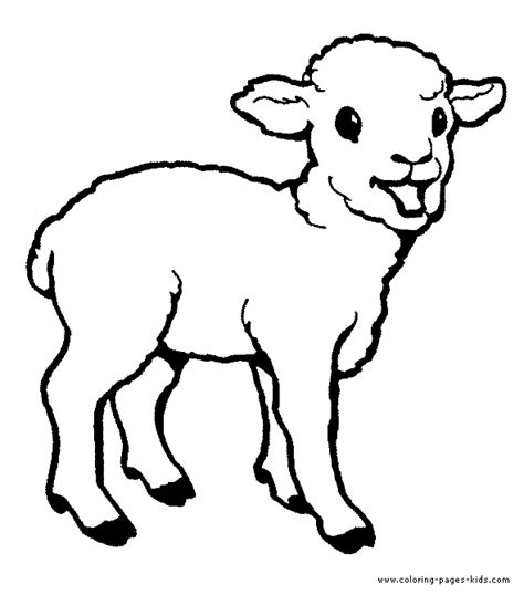 good coloring pages of animals little lamb color page
