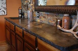 Rustic Bar Top by Rustic Outdoor Concrete Countertop Kitchen