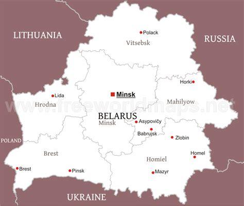 political map of belarus belarus political map
