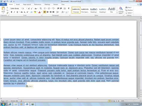 Dauble Spacy how to space in a word document