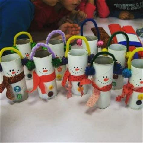 Snowman Toilet Paper Roll Craft - snowman craft idea for crafts and worksheets for