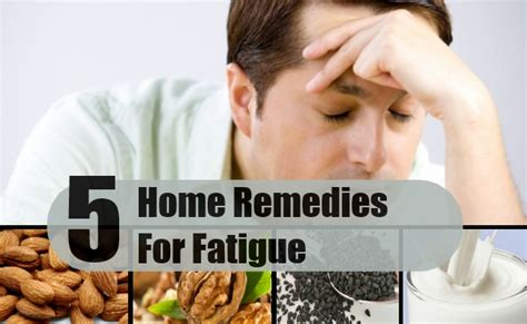 5 home remedies for fatigue treatments cure