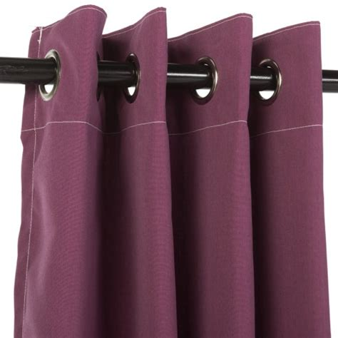 canvas curtains with grommets canvas iris sunbrella outdoor curtains with nickel