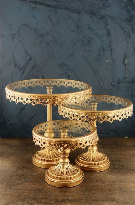 Cake Stands Gold (Set of 3)   Wedding Ideas   Gold cake