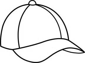 baseball cap line art free clip art