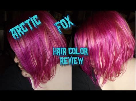 arcticfox hair color review arctic fox hair color review youtube
