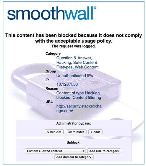 smooth wall blocked by smoothwall information security meta stack