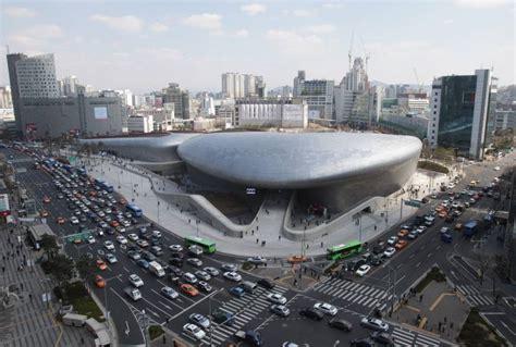 design center korea dongdaemun design plaza is seen in downtown seoul on friday