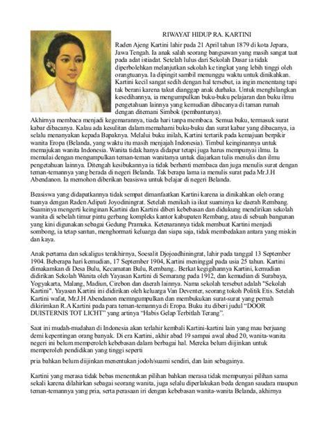 biografi singkat ra kartini dalam bahasa inggris dan terjemahannya contoh biografi ra kartini singkat contoh 36