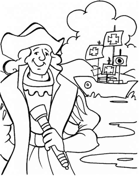 Coloring Pages Of Christopher Columbus columbus day coloring pages family net guide to