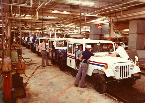 volvo assembly line 1967 jeep dispatcher assembly line classic cars today