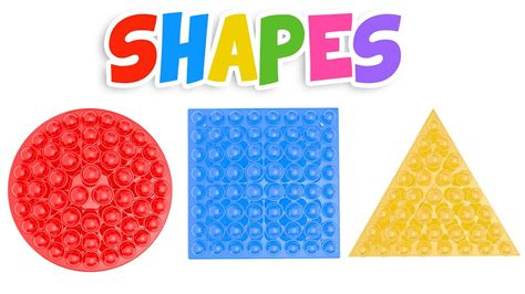 shapes and colors learn shapes with lollipops colors and shapes
