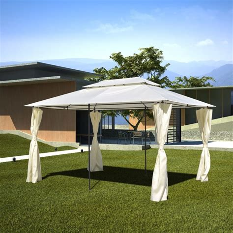 gazebo steel vidaxl co uk vidaxl garden gazebo steel 3 x 4 m