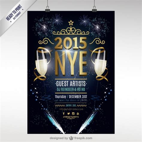 new year poster cmyk new year poster vector free
