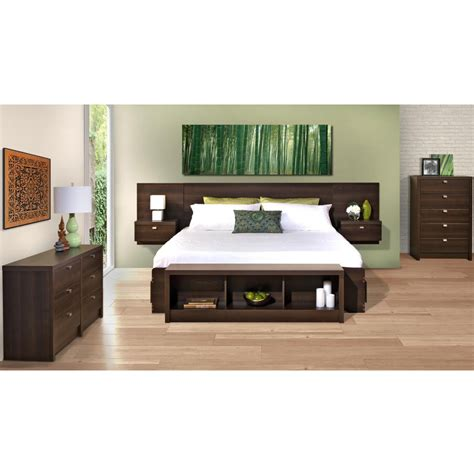 Headboard With Attached Nightstands by Headboard With Nightstands Attached