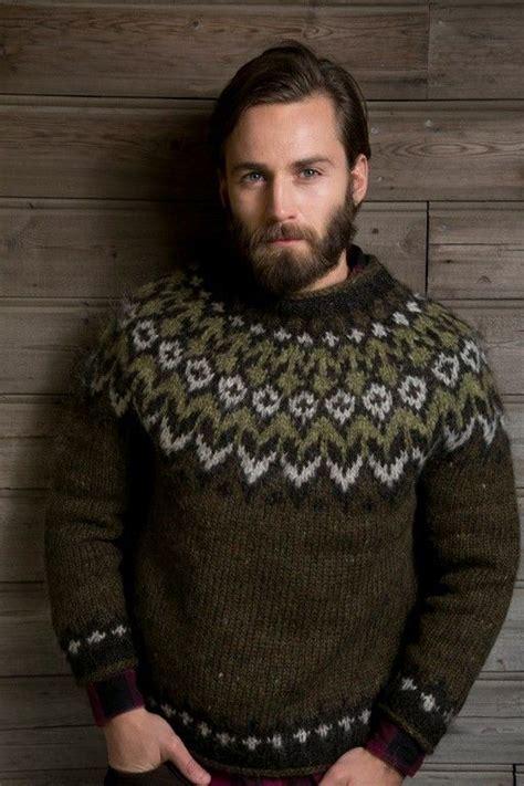 icelandic pattern jumper men s icelandic wool sweater men s fuzzy sweaters