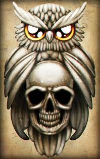 how to draw an owl and skull tattoo step by step tattoos