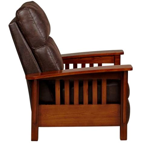 craftsman style recliner living room furniture mission furniture craftsman
