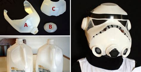 How To Make A Stormtrooper Helmet Out Of Paper - how to make milk jug trooper helmet diy crafts