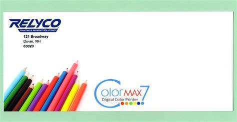 color envelope printing 4 color process envelopes