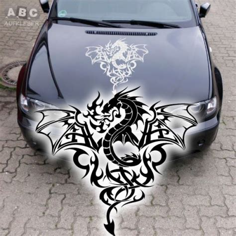 Autoaufkleber Drachen Motorhaube by Aa125 Aufkleber Drache Drachen Dragon Motorhaube