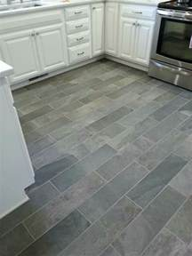 kitchen tile flooring ideas ivetta black slate porcelain tile from lowes things i ve