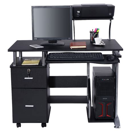 desk with printer shelf black computer desk with printer shelf desks office