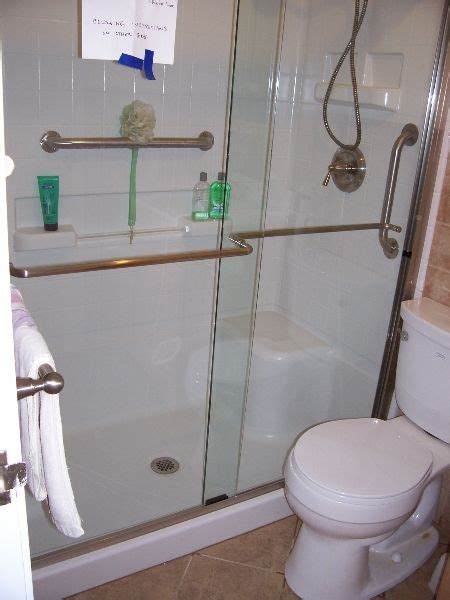 bathroom renovations for elderly shower with horizontal