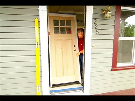 how to install a solid wood exterior door