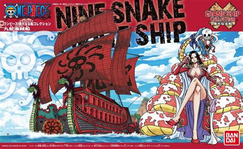 Model Kit Kapal One Nine Snake Figure Boa Hancock Shanks Luffy One Grand Ship Collection 06 Nine Snake Kuja Pirate
