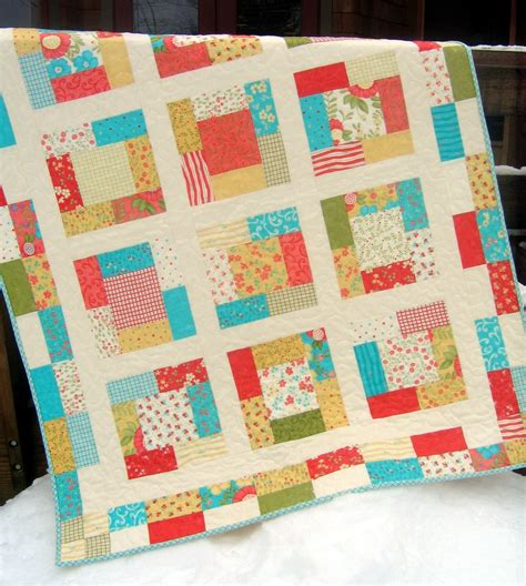 pattern quilt easy quilt pattern charm squares or fat quarters easy quick ebay