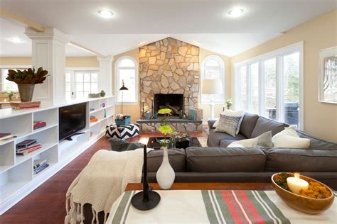 family room with sectional and fireplace grey sectional sofa living room modern with artwork couch fireplace grey beeyoutifullife com