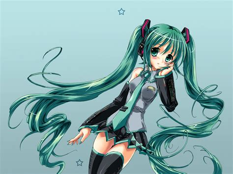 wallpaper anime hatsune miku vocaloid hatsune miku sweet anime wallpapers cartoon