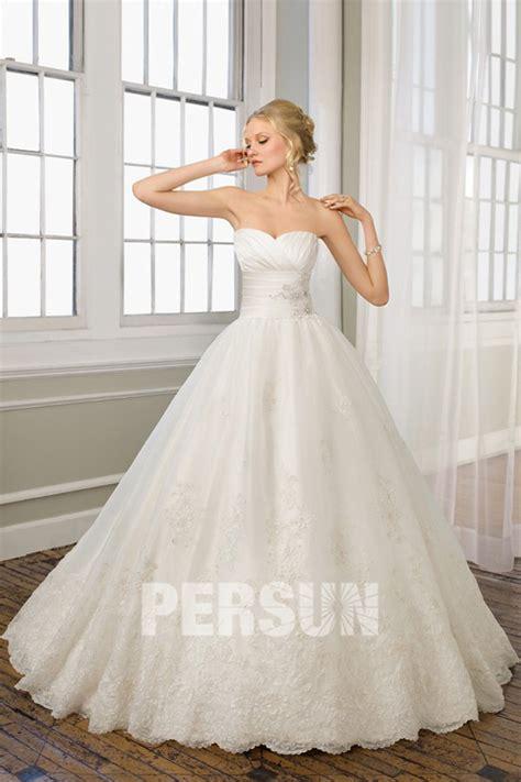 Robe De Mariée Princesse Bustier Paillette - robe mariage princesse bustier coeur 224 jupe appliqu 233 e et