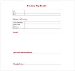 sales trip report template word business trip report sle template