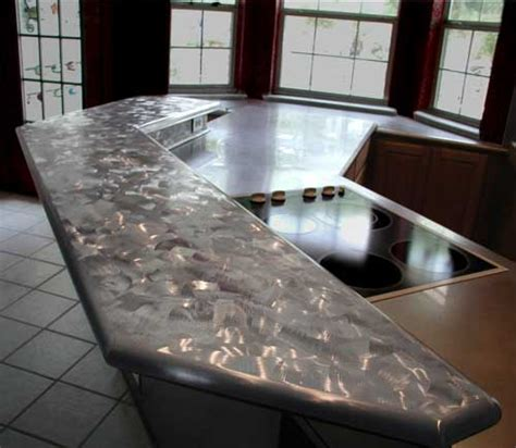 Metal Bar Tops by Handcrafted Metal Zinc And Stainless Steel Countertops