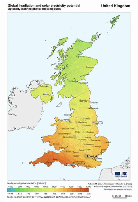 map in uk accurate solar map uk uk solar mapping