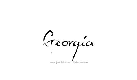 state of georgia tattoo designs usa state name designs page 4 of 5