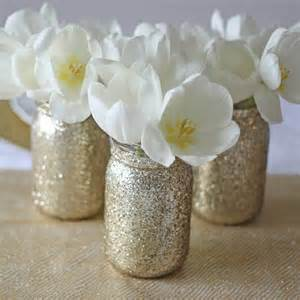 gold glitter jar vase by the wedding of my dreams