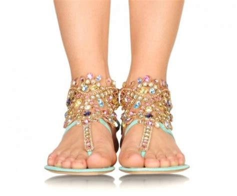 flat sandals for 2013 rene caovilla embellished sandals collection 2013