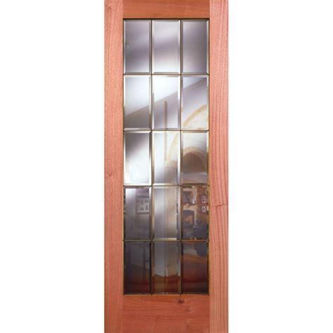 15 Lite Interior Door Feather River Doors 32 In X 80 In 15 Lite Unfinished Mahogany Clear Bevel Brass Woodgrain