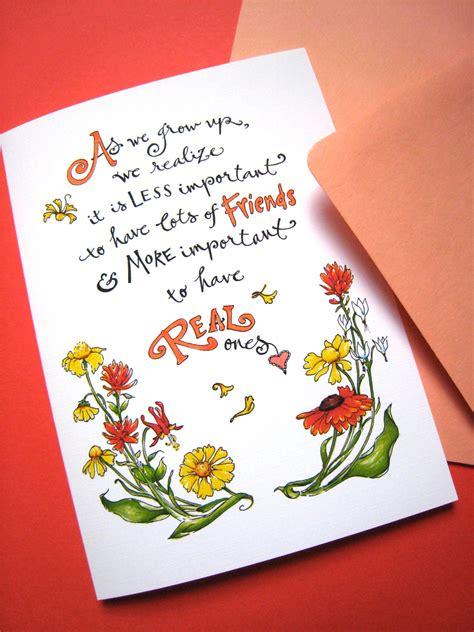 card best friend friendship quote card best friend card birthday