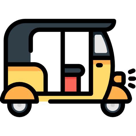 Home Entertainment Network Design tourism transportation tuk tuk rickshaw three wheeler icon