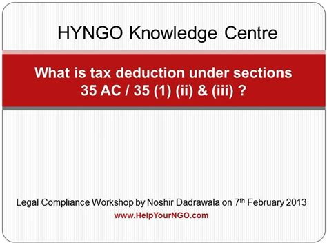 deduction under section 35ac what is tax deduction under sections 35 ac 35 1 ii