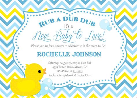 rubber duck baby shower invitation duck printable