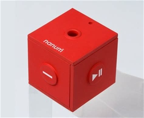 Mobiblus New Cube Shaped Media Player by Mobiblu Unveils The Nanum Folding Cube Dap